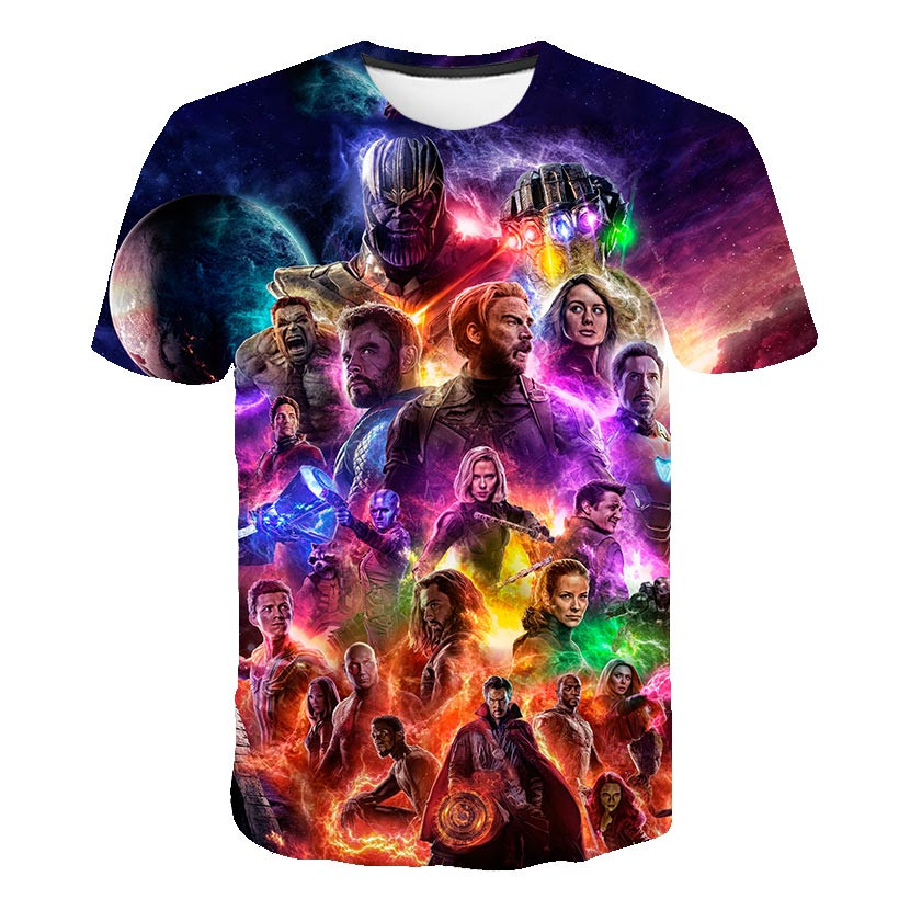 Avengers Endgame Quantum Realm Cosplay 3D Printed   T  -  shirts   Unisex Compression Fitness Quick Dry   T     shirts   Summer Superhero Tees