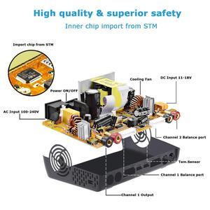 Image 4 - HTRC T240 DUO RC פורק AC 150W /DC 240W מגע מסך כפול ערוץ 10A איזון מטען עבור liPo LiHV חיים Lilon NiCd NiMh Pb