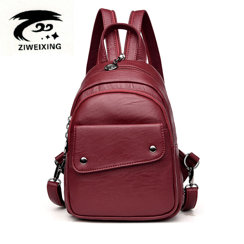 2017 New Fashion Women Backpack Black Soft Leather  Backpacks Female School Shoulder Bags for Teenage Girls Travel Back Pack Sac 2016 fashion women backpacks rivet soft sheepskin leather bags shoulder for teenage girls female travel bag free gift
