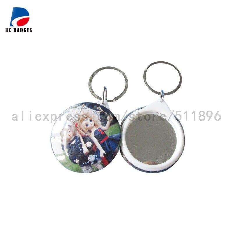 500 juegos (44mm) material del botón del llavero del espejo, material de la insignia del espejo, venta directa de la fábrica-in Botones y partes de insignias from Hogar y Mascotas    1