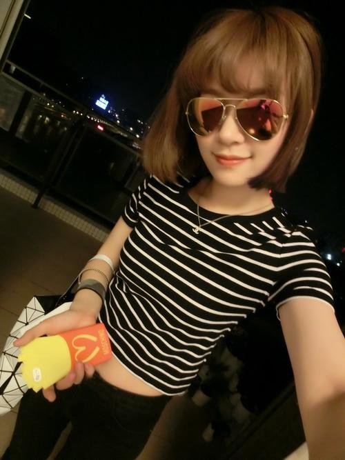 HTB1d5TxLXXXXXbyXpXXq6xXFXXXl - New Women T shirt Sexy Crop Tops Striped Short Sleeved