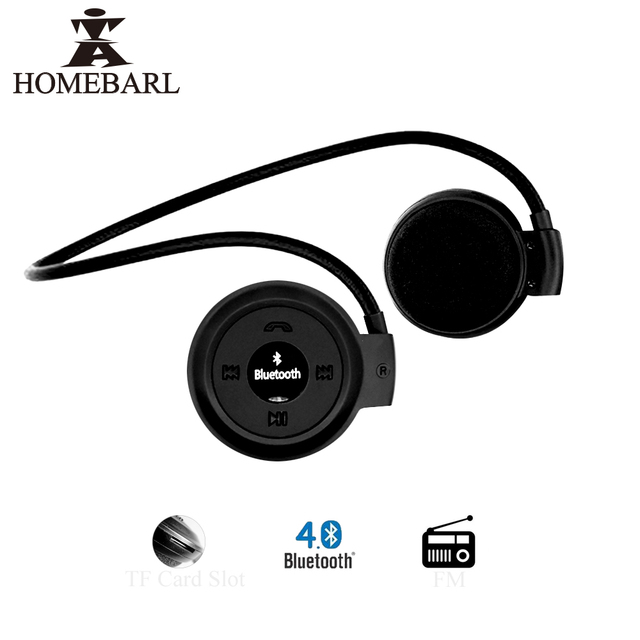 HOMEBARL Mini 503 Mini503 Bluetooth 4.0 Headset Sport Wireless Headphones Music Stereo Earphones+Micro SD Card Slot+FM Speakers