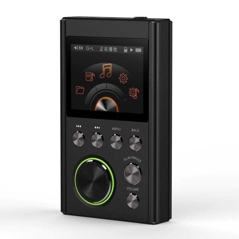 SHMCI C5 MP3 HIFI DSD Professionnel MP3 HIFI Lecteur de Musique Support amplificateur de casque DAC wm8965 DSD256 Avec OLED Zishan DSD