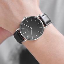 купить 2019 couple watch quartz casual simple leather strap mens waterproof watches luxury brand ladies watch women wristwatch по цене 1313.36 рублей