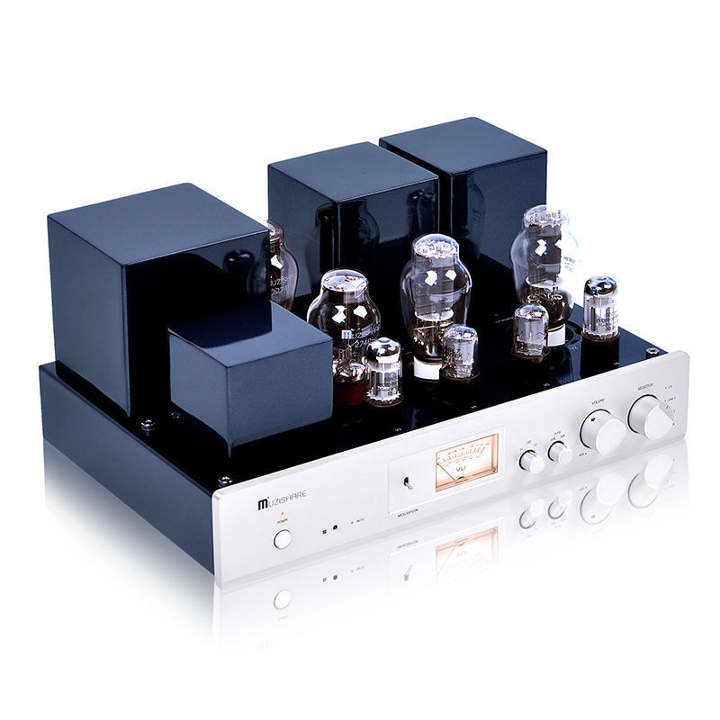 Music Hall Latest MUZISHARE High End 300B Vacuum Tube Amplifier Single-ended Class A Integrated Power Amp  music hall latest muzishare x7 push pull stereo kt88 valve tube integrated amplifier phono preamp 45w 2 power amp