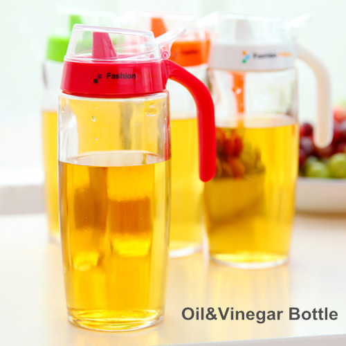 Delightful 2 Pcs/Lot Glass Oil Vinegar Bottle Oiler Sauce Seasoning Pot Container  Spice Jar Kitchen