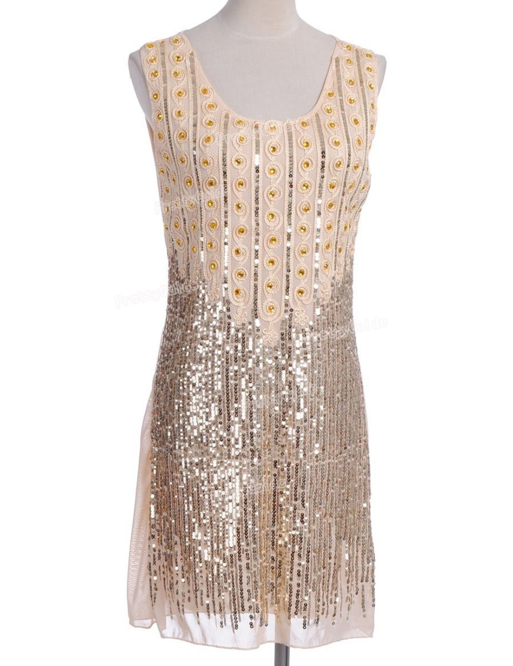 Prettyguide women vintage 1920s gatsby style beads and - Robe gatsby pas cher ...