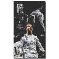 Cristiano Ronaldo CR Art Silk Fabric Poster Print 13x24 24x43inch Super Soccer Star Picture For Living