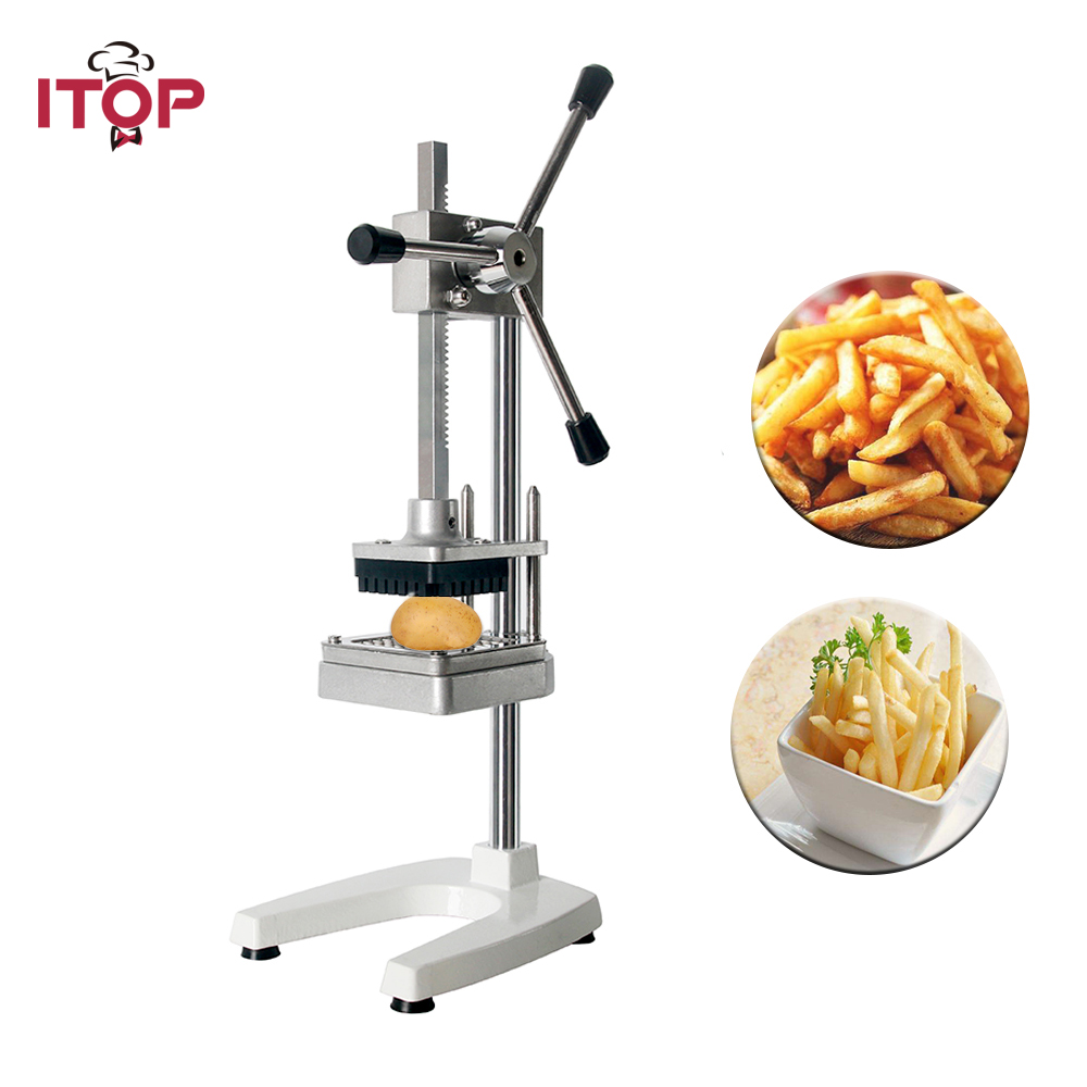ITOP Manual Vertical Potato Chips Machine French Fries Cutter Slicer With 6mm 9mm 13mm Blade Potato Carrot Vegetable Tools