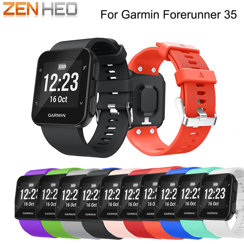 ZENHEO Replacement Wristband Watch band Wrist strap Silicagel Soft Band Strap For Garmin Forerunner 35 Smart Watch Bracelet New(China)