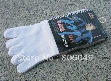 Christmas sale! Free shipping 4 Pairs black Men's Five-Toe Flip Flop Geta Tabi Socks