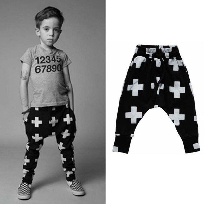 Kids Boy Girl Casual Cotton Geometric Pattern Bottoms Harem Pant