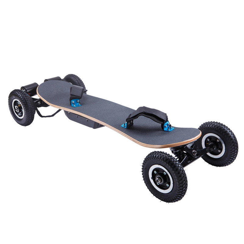 4 wheels off road tyre high speed electric skateboard/4 wheels maple deck electric skateboard