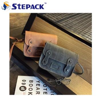 Hot Fashion PU Leather Women Bag Oil Wax Cowhide Button Design Handbags Shoulder Bag Messenger Bags High Quality WMB0282 messenger bag