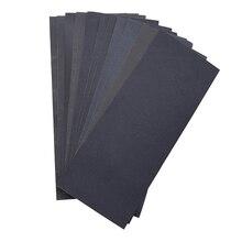 12 peças folhas totalmente lixa abrasivo seco molhado impermeável lixa folhas sortidas grão de 400/ 600/ 800/ 1000/ 1200/ 1500