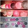 20 Bolas/set Rosa Tono de color Gris mezclado Hecho A Mano de algodón bola luces de Hadas Cadena Fiesta casa Patio boda Romántica decoración