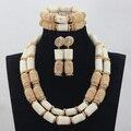 2017 Fashion Milk White Coral Jewelry Sets Nigerian African Wedding Bridal/Women Beads Necklace Jewelry Set Free Shipping CJ799