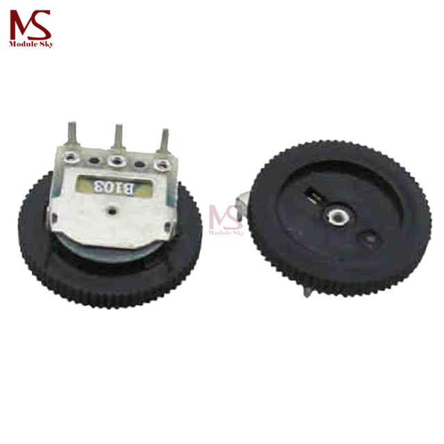US $0 82 9% OFF|10PCS B103 10K Ohm 3 Pin Single Linear Dial Wheel  Potentiometer 16MM x 2MM-in Replacement Parts & Accessories from Consumer