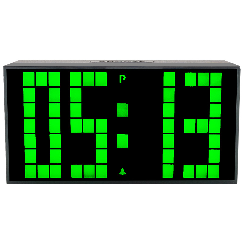 Kosda Computer HIGHSTAR Blue LED Luminous Message Board Digital Alarm Clock with 4 Port USB Hub