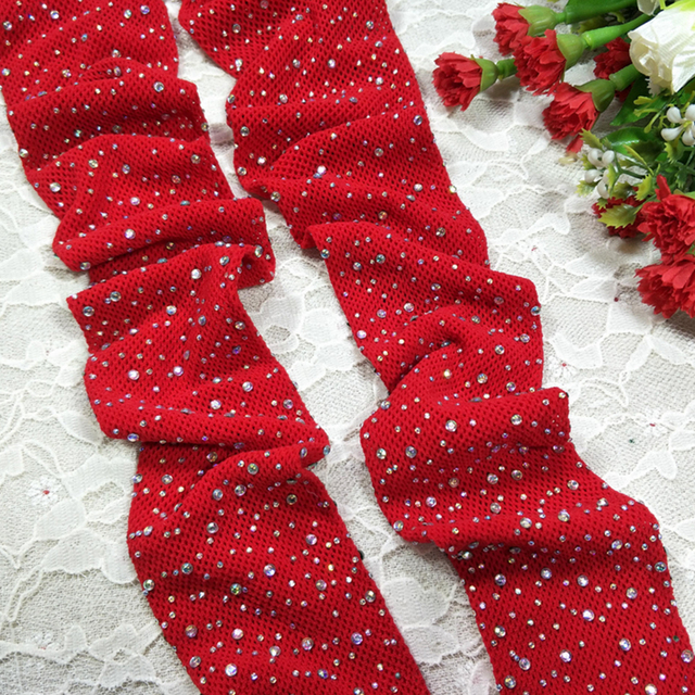 Diamond Fishnet Mesh Thigh-High Stockings  1
