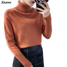 Spring turtleneck sweater 2018 fashion women winter pullover and autumn female long sleeve knitted