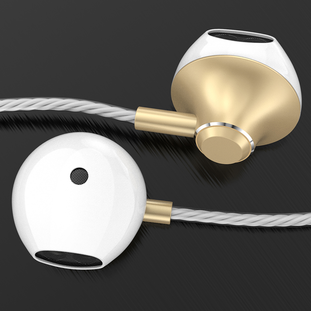 Brand Wired Earbuds Headphones 3.5mm In Ear Earphone Earpiece With Mic Stereo Headset 5 Color For Samsung Xiaomi Phone Computer
