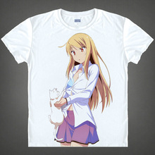 Sakurasou T shirts Pet kawaii Japanese Anime t shirt Manga Shirt Cute Cartoon shiina mashiro Cosplay
