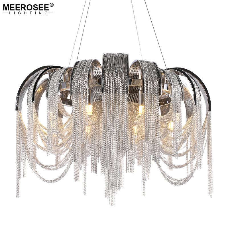 Modern Aluminum Chandelier light Fitting French Chian Hanging Drop Lustre Lamparas Tessal Lamp for Home Hotel Cafe Project