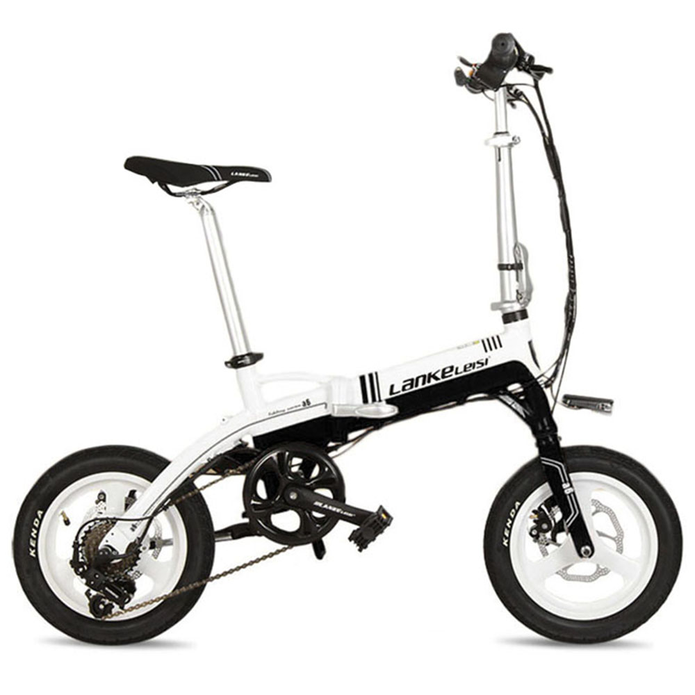 Lankeleisi A6 Folding Electric Bicycle 7 Speeds 14 inch 240Watt 36V Disc Brakes