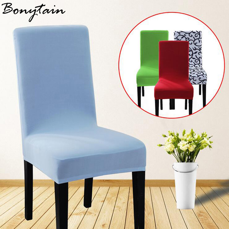 1pc High Quality Candy Color Home Dining Dustproof Chair Seat Cover Hotel Restaurant Wedding Party Festival