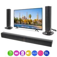 BS 36 Home Theater Surround Multi function Bluetooth Soundbar Speaker with 4 Full Range Horns Support Foldable Split for TV/PC