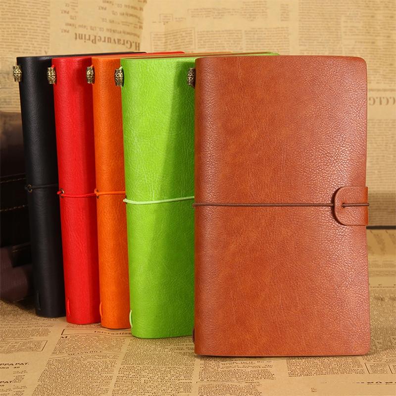 Cuaderno de viajeros de diario de cuero de alta calidad A6 sketchbook - Blocs de notas y cuadernos