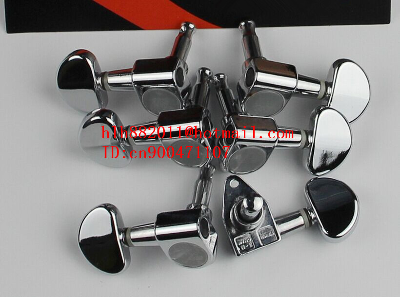 free shipping new  electric guitar chrome  tuning peg guitar button for both side of the guitar  90 - degree Angle   AR-12 цена и фото