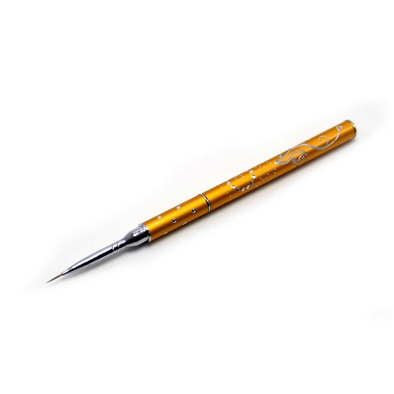 Eval Pure Kolinsky Sable Nail Brush Hook Line Nail Art Tool Design Paint Brush Acrylic Nail Brush Set