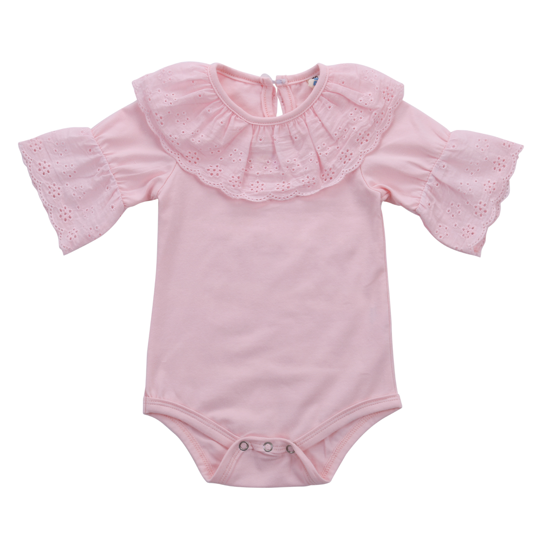 2016 Cute Baby Girls Clothes 0 18M Newborn Baby Bodysuit Summer Short Sleeve Lace Bodysuits Outfit