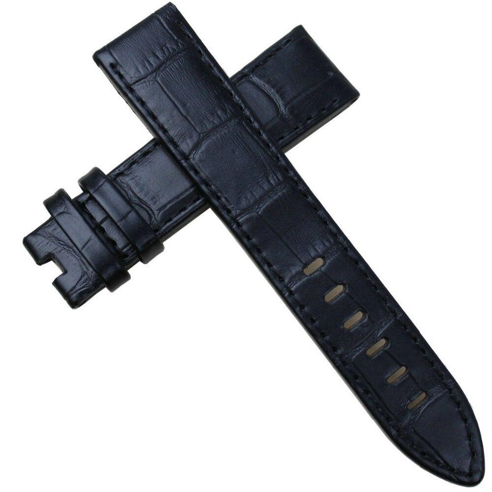 Pesno Armbandsur med äkta läder Svart Brun Kalvskinnsrem 20 mm 22mm - Tillbehör klockor - Foto 5