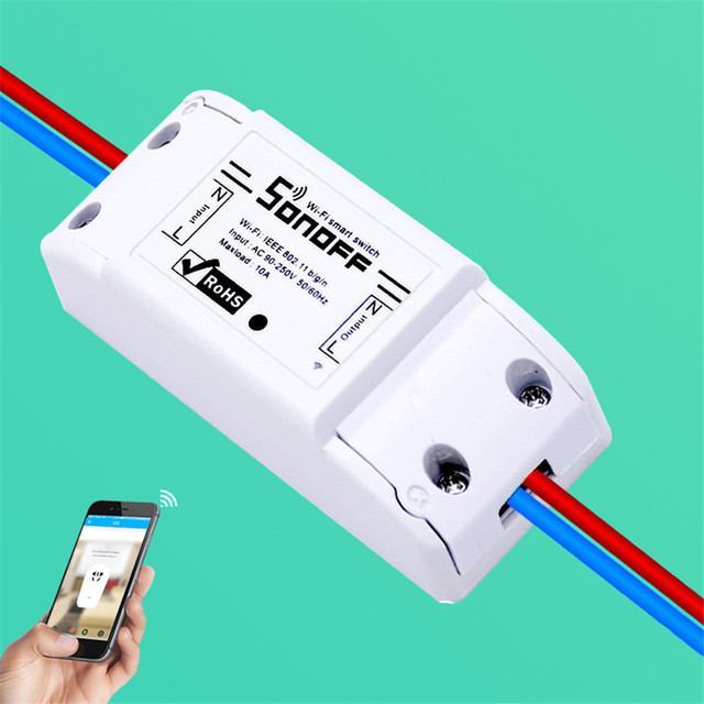 TOP Sonoff inalámbrico Wifi interruptor Universal Smart Home automatización módulo temporizador Diy Wifi interruptor control remoto a través de IOS Android