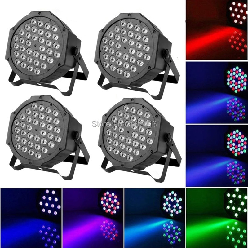 4pcs/lot LED Par Light 36x3W RGB EU/US Plug LED Par64 DMX512 LED Stage Effect Lighting DJ Disco Wash Lights for Home Party Show ...