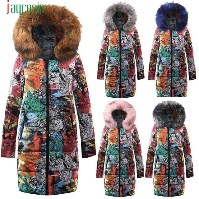 Black  NEW Big fur winter Warm Women's Coat  thickened parka plus size Down Cotton Coat Long Jacket Female Parkas Mujer Maxi