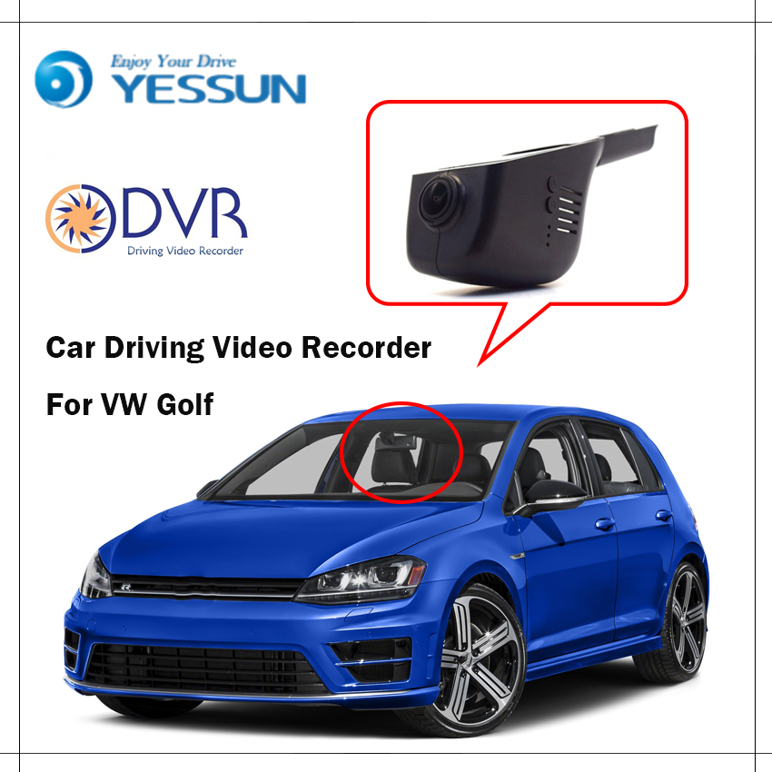 YESSUN For VW Golf Car Front Dash Camera CAM / DVR Driving Video Recorder - For iPhone Android APP Control Black Box Function yessun for vw amarok car driving video recorder dvr mini control app wifi camera registrator dash cam original style