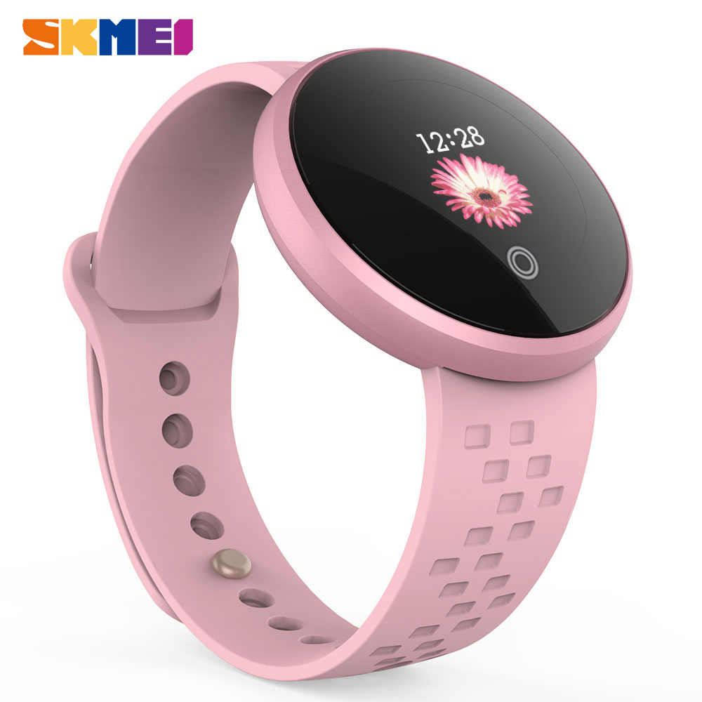 SKMEI Women Smart Bluetooth Watches Fashion SmartWatch Calories Step HeartRate Watch Beauty Wristwatch For IOS Android Phone B36