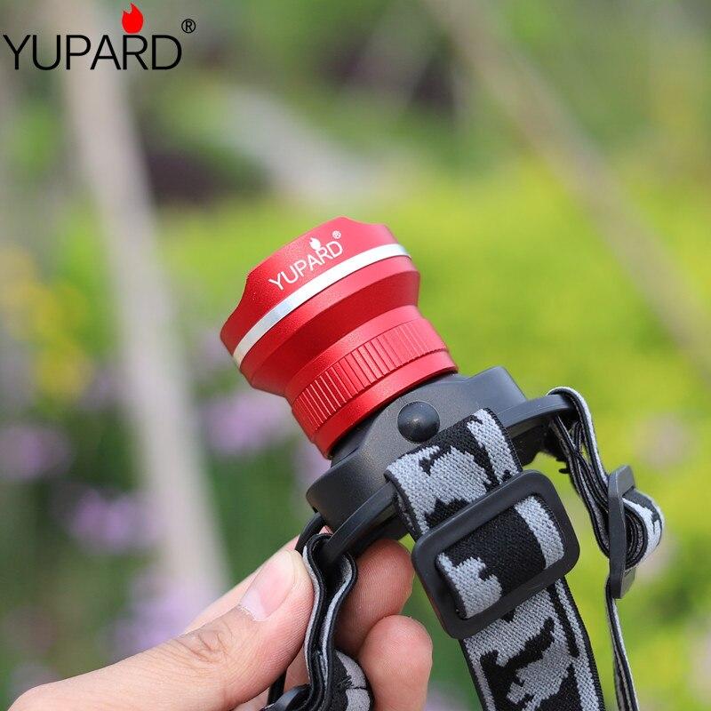 YUPARD HeadLight XM-L2 LED 3 حالت ضد آب بزرگنمایی - روشنایی قابل حمل