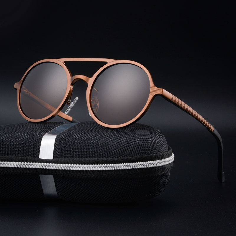 Vintage Men Sunglasses Women Retro Punk Style Round Sun Glasses Metal Frame Fashion Eyewear Polarized Driving Sunglasses in Men 39 s Sunglasses from Apparel Accessories