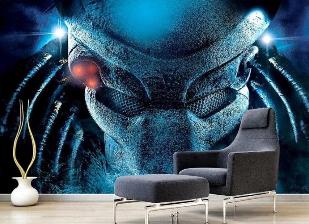 Eropa dan Amerika Keren Pahlawan Film Besar Internet Cafe 3D Latar Belakang Dinding Dekorasi Wallpaper Mural