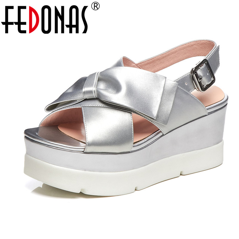 FEDONAS Casual Women Pumps Platfrom Wedges High Heels Prom Party Working Summer Fashion Shoes Woman Concise