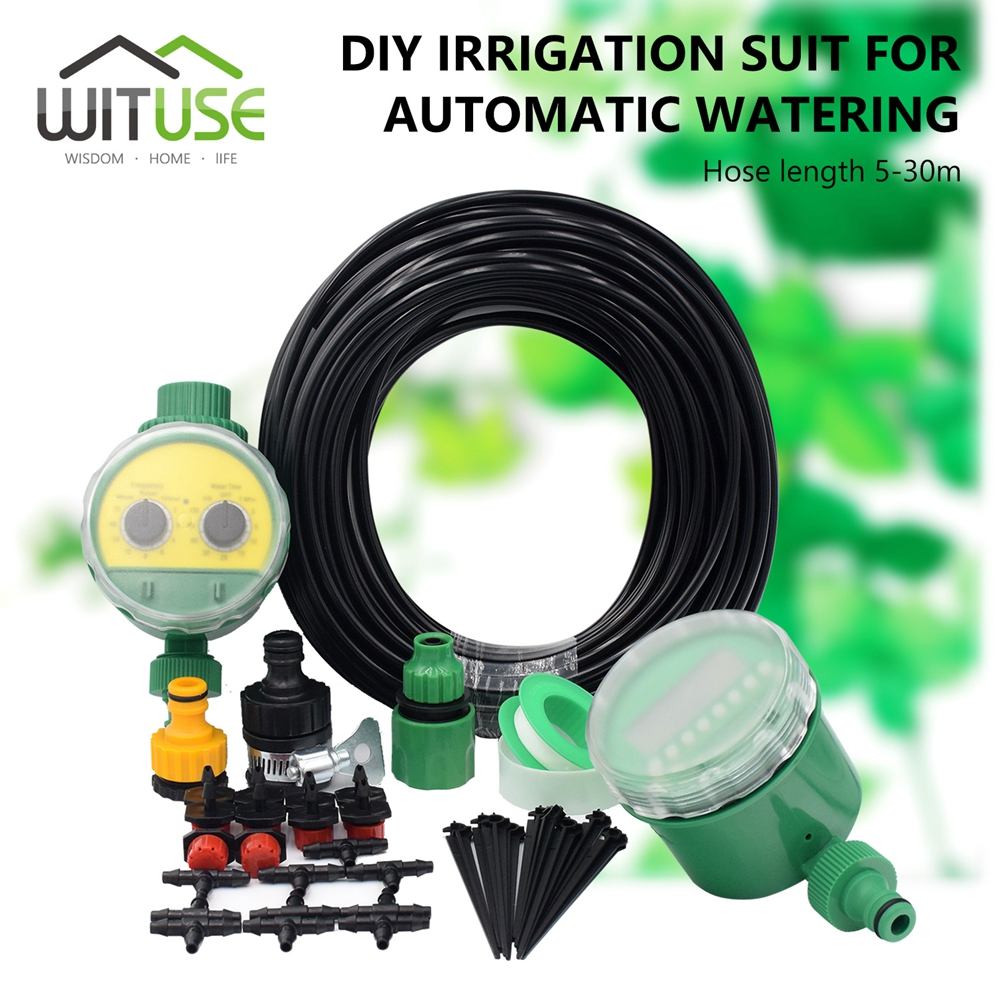 30M DIY Garden Drip irrigation system watering Automatic ...