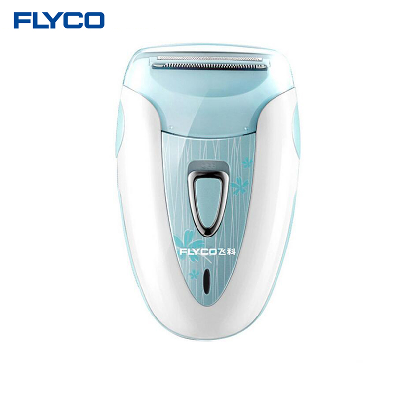 Flyco профессиональная перезаряжаемая модная Женская бритва устройство для удаления волос женский эпилятор электрический бритвенный соскабливающий FS7208 - Цвет: Синий