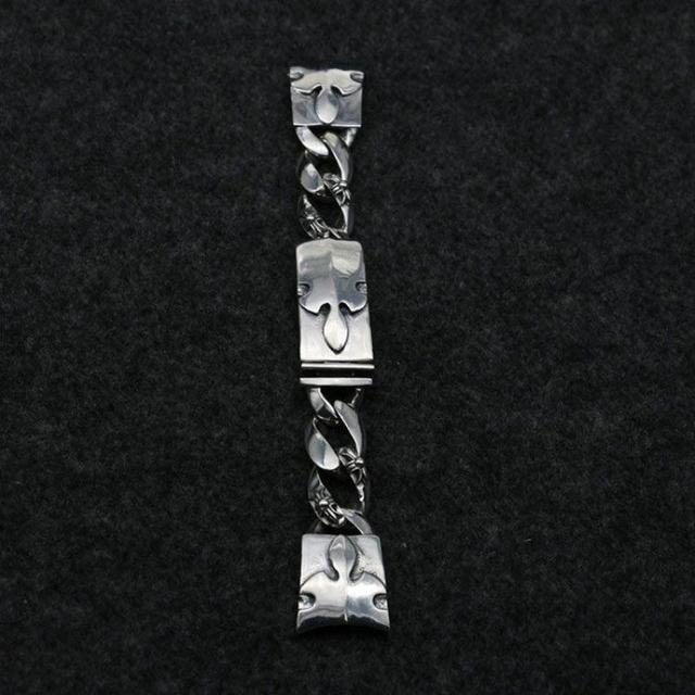 Solid 925 Sterling Silver Bracelets Vintage Heavy Watch Chain Club Male Accessories 2016 South Korea Japan New Fashion