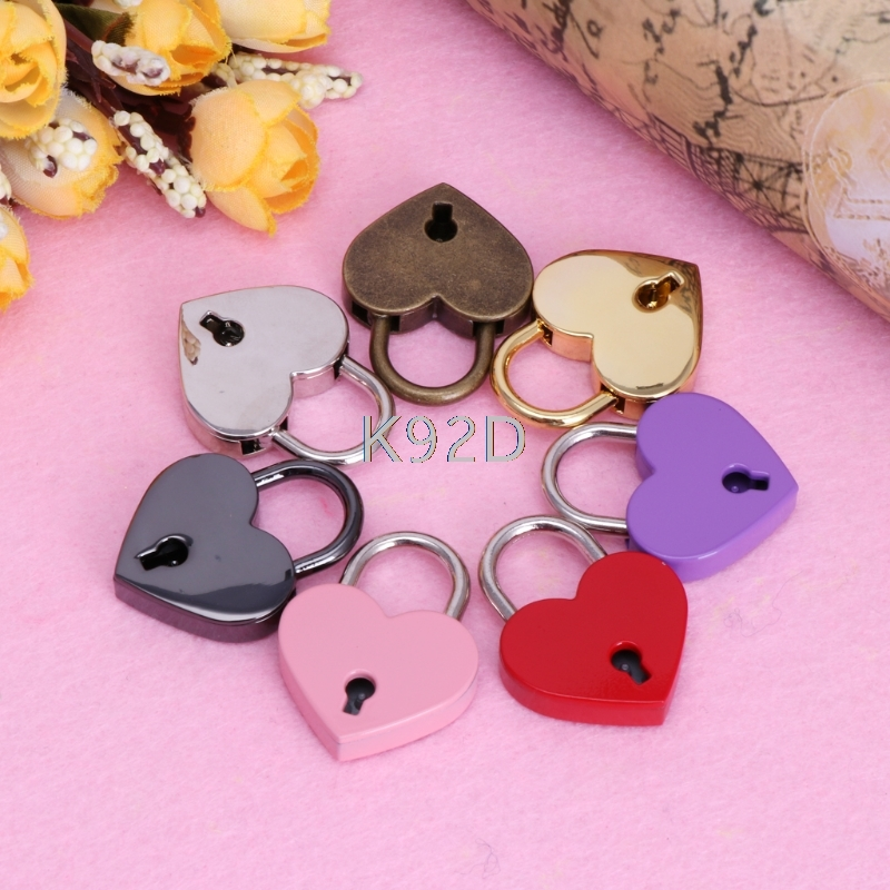 Baby Safe Heart Shape Vintage Lock Old Antique Style Mini Archaize Lock With Key Baby Safety Care Accessories