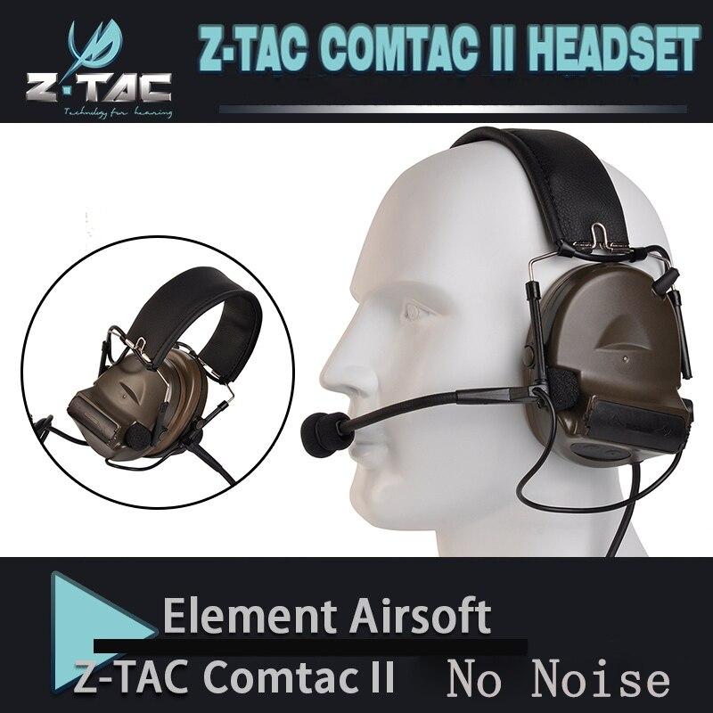 Z-tac Tactical Comtac II Peltor Headphones No Noise Reduction Function Communication Earphone 2018 New Version Z151